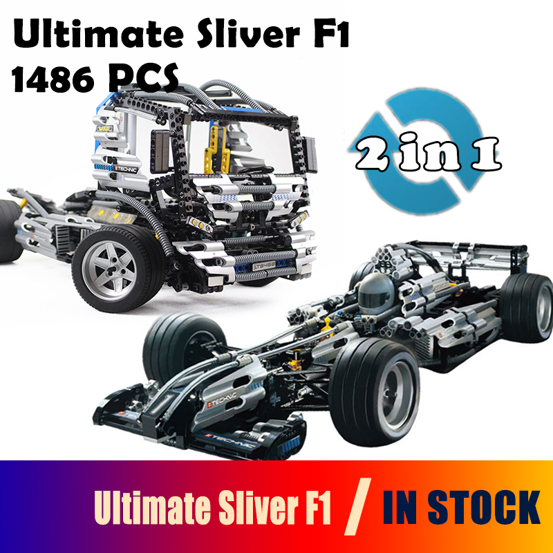 The Ultimate Sliver Champion F1 Racing Model Building Blocks Compatible with lego Race 8458 Educational Toys For Children ultimate nutrition гейнер ultimate muscle juice revolution 2120 гр