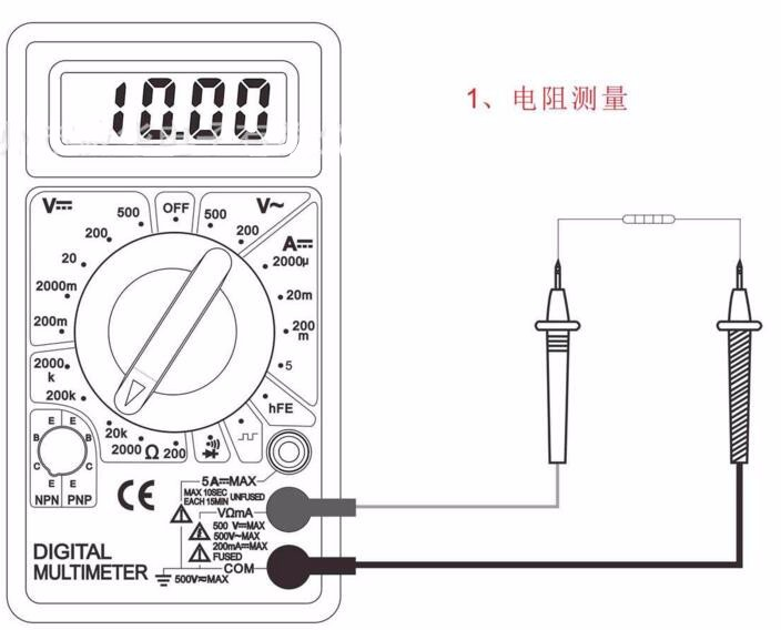 100pcs by dhl fedex Digital Multimeter AC DC Buzzer Voltmeter Ammeter Voltage Ampere Meter DT830D Tester with  Leads  LCD probe 3