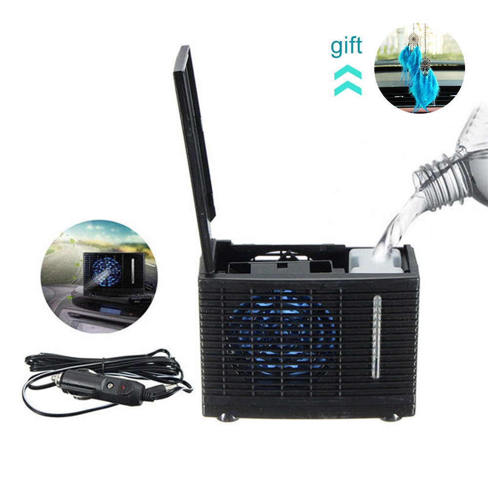 12V 35W Mini Car Can Add Water Fan 12V Air Conditioning Installation Powered By Car Charger Adapter Car Interiors-in A/C & Heater Controls from Automobiles & Motorcycles