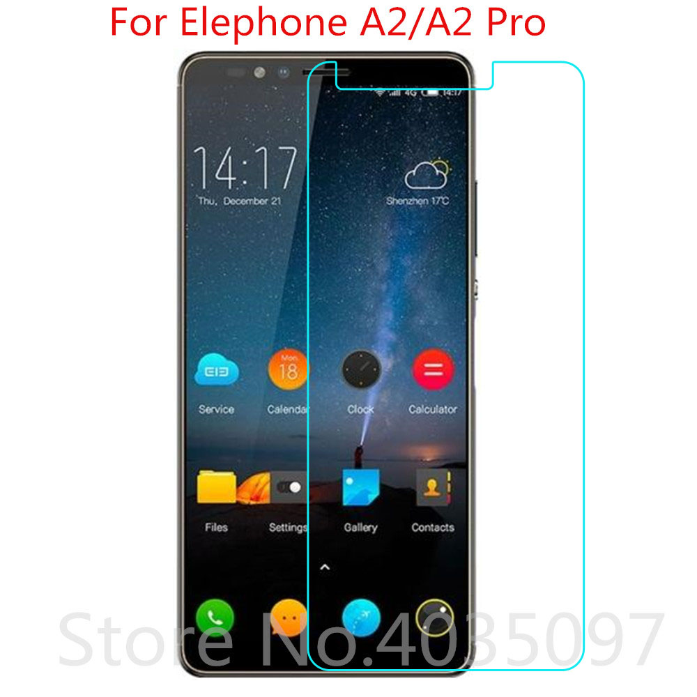 2pcs 9H 2.5D For Elephone A2 Pro Tempered Glass Protective Glass Film Explosion-proof For Elephone A2 Screen Protector