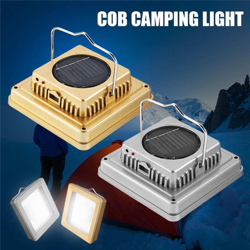 Solar COB Outdoor Emergency Camping Tent Light Lamp Portable USB Rechargeable Hanging Lamp Lantern For Hiking