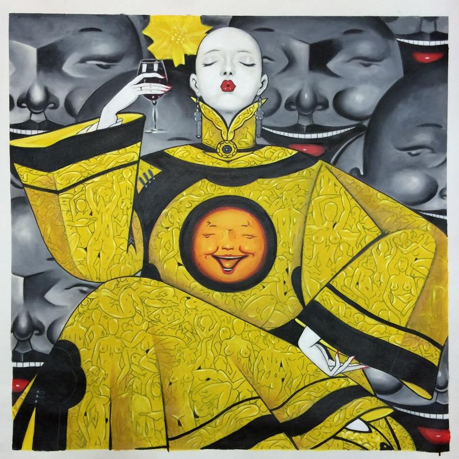 Handgemalte Chinesische Zeitgenössische Kunst Ölgemälde auf Leinwand ...