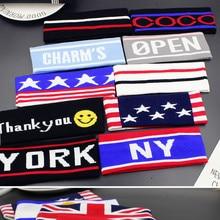 Men American Flag Stripe Sporting Headband Women Fashion National Elastic Hair Band  Accessories