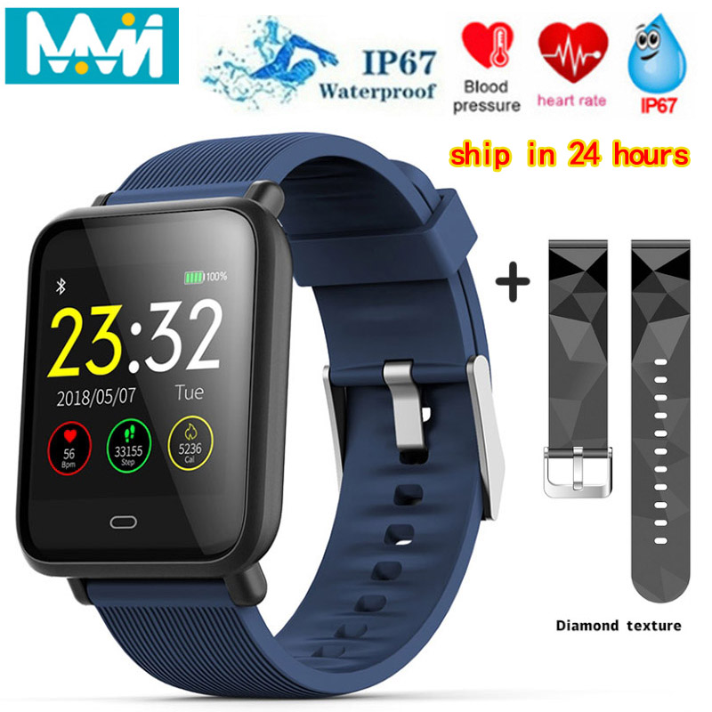 Smart Bracelet Q9 Sport Fitness Tracker Multifunction Q9 Waterproof Wristband Watch For iOS Android 1 3 inch Color Screen in Smart Wristbands from Consumer Electronics