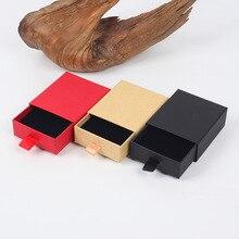 20 قطعة/الوحدة Whosale الرجعية كرافت ورقة لصالح هدية Box7 * 8*3 سنتيمتر أقراط سوار صندوق خمر تصميم السائبة مجوهرات صندوق