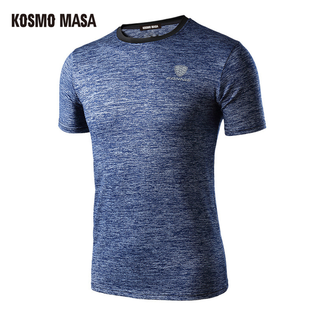 KOSMO MASA 2017 Spring Summer Men's Short Sleeve T-shirt Quick Dry Breathable Fitness Hip Hop T-shirts Men Jersey T Shirt MC0277