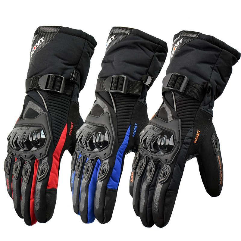 HZSSJC SUOMY New Motorcycle Gloves 100/% Waterproof Touch Screen Winter Warm Motorbike Glove Men Protective Moto Luvas Guantes
