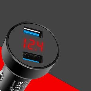 Image 5 - 5 V 3.1A Dijital LED Ekran Çift USB Araç iphone şarj cihazı Samsung Tablet Için Seyahat Adaptörü Hızlı Şarj Xiaomi