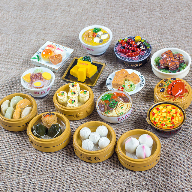 3D simulation of traditional Chinese food snacks Taiwan snacks ...