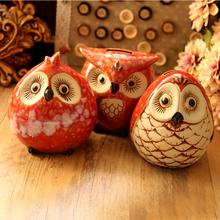 3 sztuk partia ceramiczne sowa skarbonka dekoracji wnętrz artykuły wyposażenia wnętrz tanie tanio Snornament 12*9*12cm