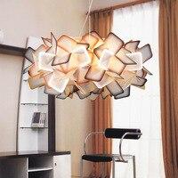 Творческий акриловые светодио дный верхнего света круговой спальня лампа кафе современной скандинавской потолочные светильники 110 В/220 В