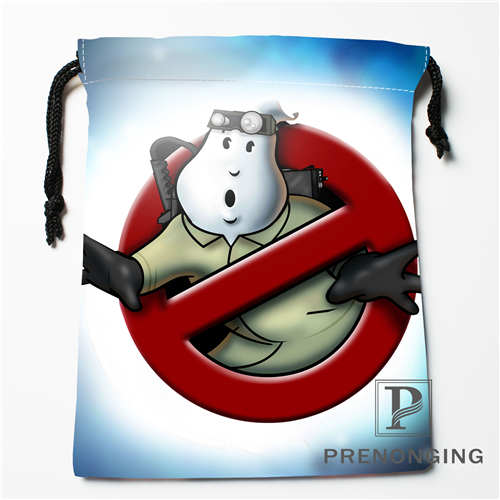 Custom Drawstring Bags Ghostbusters Printed Receive Bag Compression Type Bags Size 18X22 ...