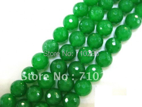Полудрагоценный камень свободный зеленый нефрит e шарик 12 мм граненый круглый камень Бусины 40 см/струна