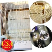 10M Chandelier Crystals Lamp Prisms Acrylic Octagonal Beads Garland Chandelier Hanging Curtain Interior Decor