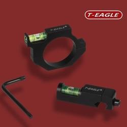 T-EAGLE niveau à bulle en métal pour 25.4mm/30mm Tube vue lunette de visée portée Laser anneau support de montage optique tactique