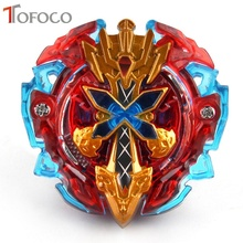 Фотография TOFOCO New Anime Spinning Top Fight Hunter 4D Metal Toupie Beyblade Burst With Launch Set Fusion Warrior Toys For Boy Kids Red