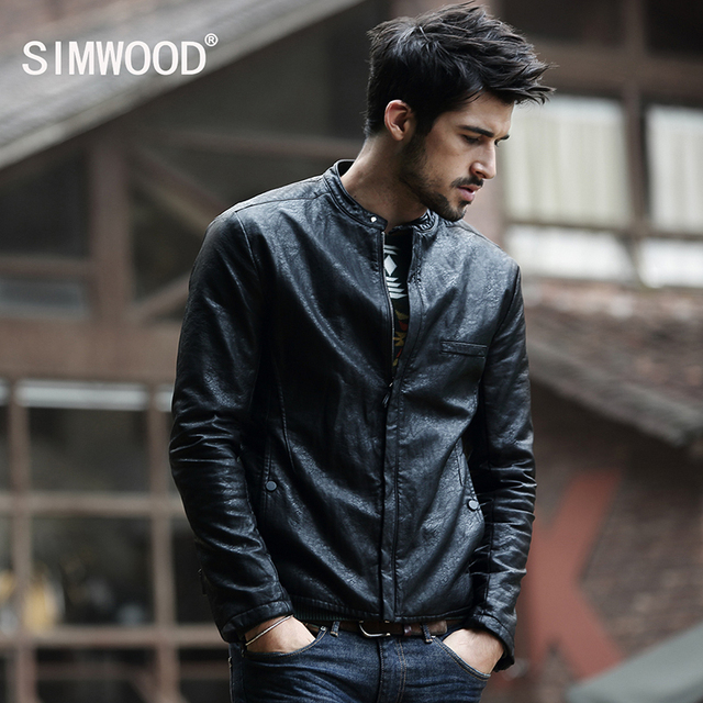 2016 New Arrivals Winter Autumn Brand PU Leather Jacket Men Motorcycle Leather Jackets Overcoat Jaqueta High Quality P1052