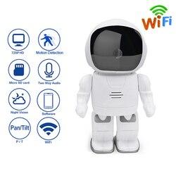 Robot WIFI Wireless Security HD 720 P kamera niania noktowizor kamera IP alarm wykrywający ruch w Kamery nadzoru od Bezpieczeństwo i ochrona na