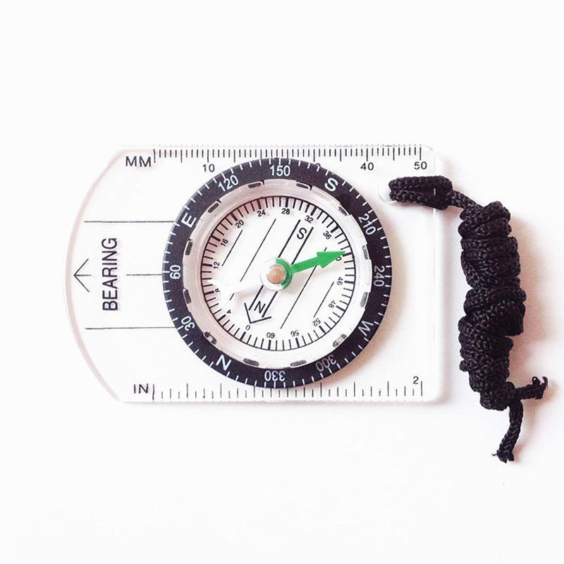 Compass Professional Mini Compass Map Scale Ruler Multifunctional Equipment Outdoor Hiking Camping Survival Bussola Brujula Sext