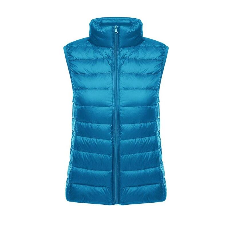 Women Autumn Winter 90% White Duck   Down   Vest Jacket Female Casual Plus Size 3XL Reversible Ultra Light   Down     Coat   Waistcoat Q189
