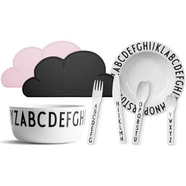 47x27cm FDA Silicone Placemat Bar Mat Baby Kids Cloud Shaped Plate Mat Table Mat Set Home Kitchen Pads,BPA Free