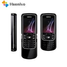 Оригинальный Nokia 8600 Luna Mobile Phone Unlocked 2 Г GSM Сотовый Телефон и Русская клавиатура и Один год гарантии