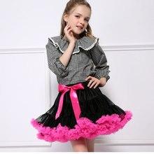 Юбка-пачка для девочек; 2 цвета; пышная шифоновая юбка-американка в стиле пэчворк; праздничные Юбки принцессы; Детские балетные юбки для девочек