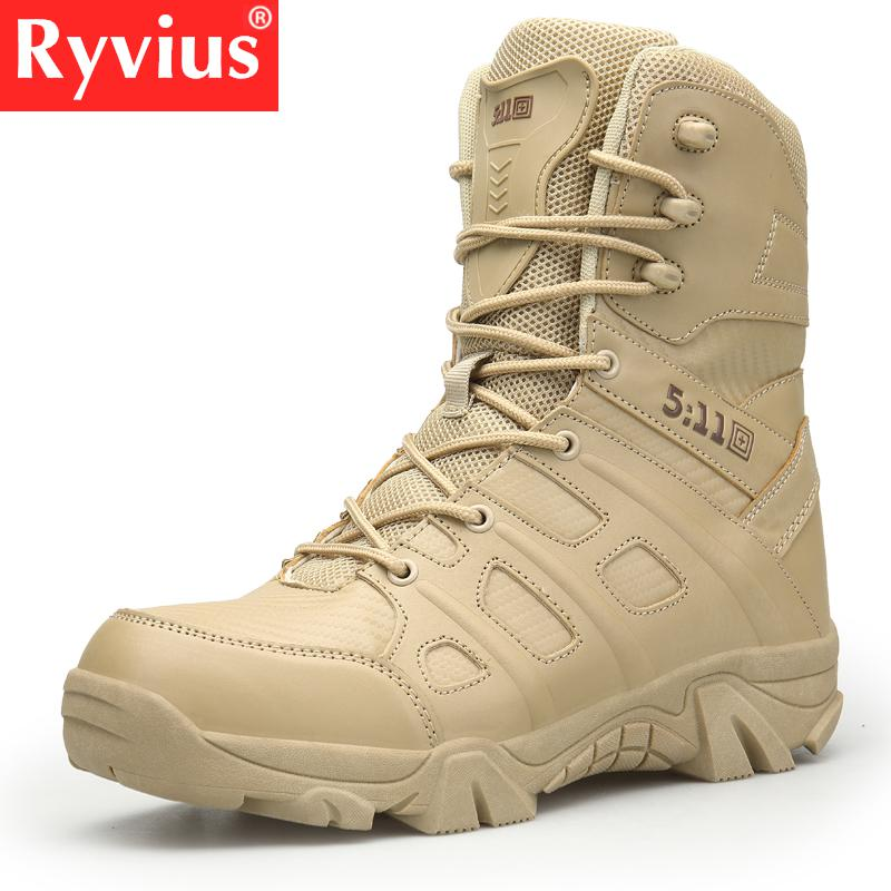 2019 High Quality Outdoor Men s Hiking Shoes Desert High To Help Military Tactical Boots Men