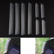 цена на 8pcs/set Car SUV Side Door Edge Protector Protective Strip Scrape Guard Bumper Guards Handle Cover Transparent Free Shipping