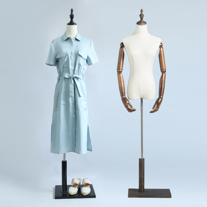 Props half body female props hanger vintage wood women\'s fabric ...