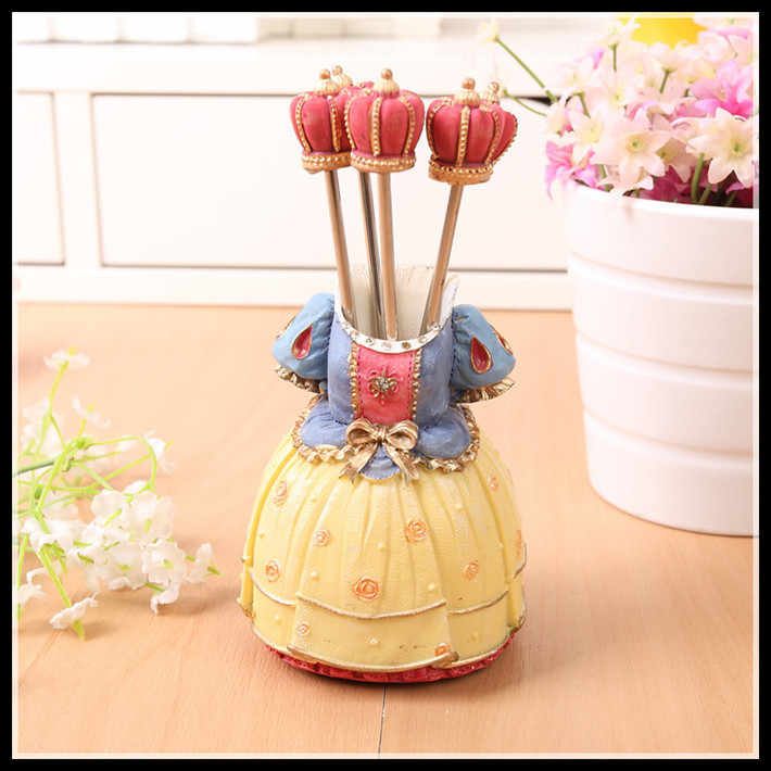 Нержавеющая сталь фруктовая вилка кухонные аксессуары украшение домашний кухонный инструмент милая форма платья