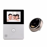 2 8 Inch LCD Wifi Peephole Wireless APP Smart Video Doorbell Night Vision HD Camera Door