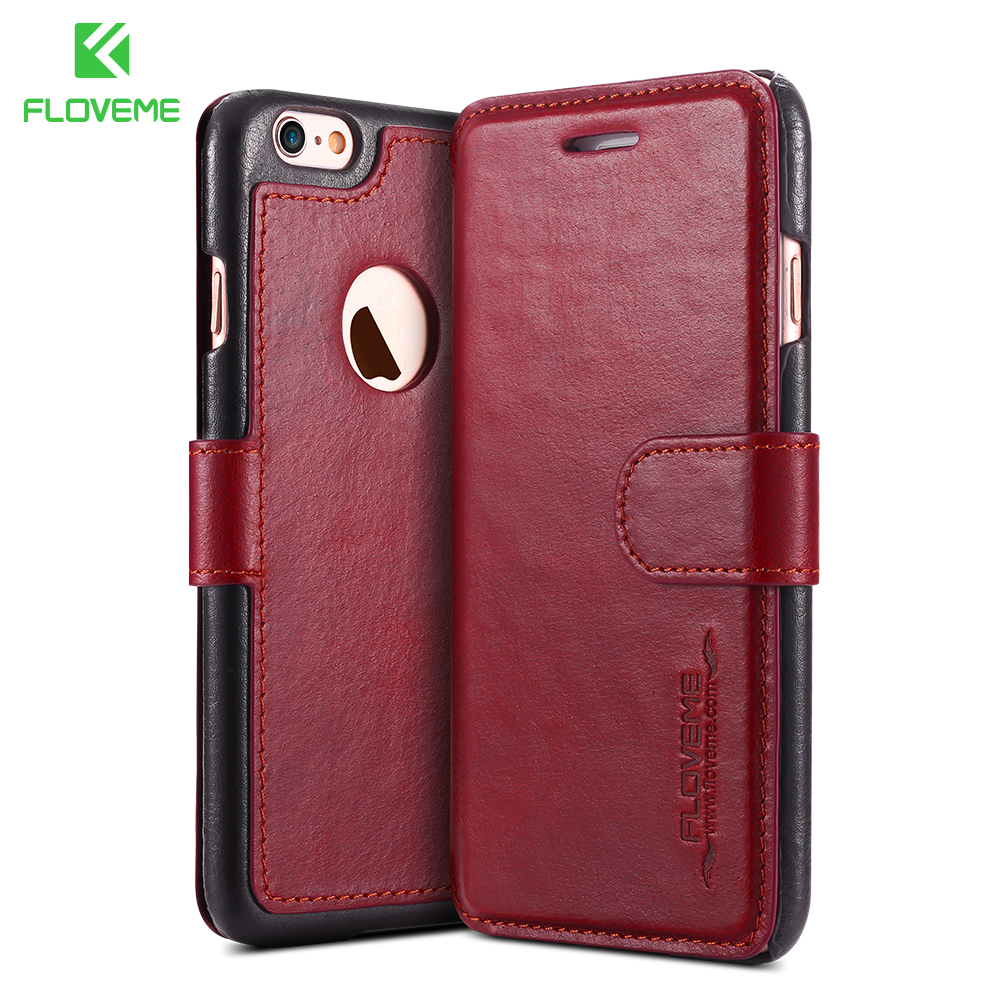 apple iphone 6 plus case floveme vintage genuine leather for apple iphone 6 6s 16581