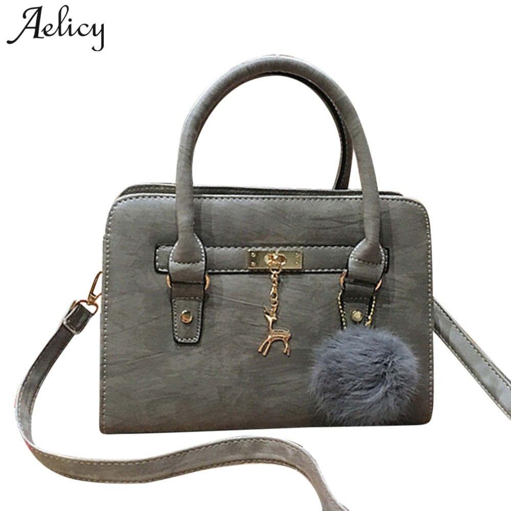 Aelicy Luxus Taschen Handtaschen Frauen Berühmte Marken PU Leder Mode Top-Griff Taschen Solide Umhängetaschen für Frauen sac ein haupt