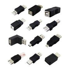 Адаптеры для принтера 2 шт./лот USB 2,0 Тип A мама к Тип B папа USB адаптер для принтера Соединительный шнур преобразователь разъем USB 2,0 папа кабель адаптера