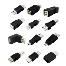 2PCS/lot USB 2.0 Type A Female To Type B Male USB Printer Adapters Coupler Cord Converter Connector USB 2.0 Male Adapter Cable