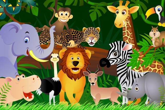 mural jungle animals wallpaper mural 3d 3d wallpaper for child