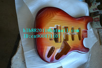 new made in China electric guitar body in sunburst with northeast China ash+EMS free shipping F 1832