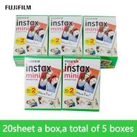Fuji instax mini 9 FILM 100 sheet Fuji instsnt photo Paper for mini8 mini9 7s 25 50s 90 Instant Camera Paper mini 8 Fujifilm