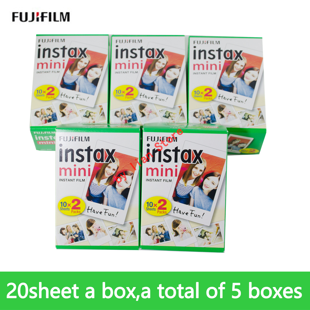 Fuji instax mini 9 FILM 100 sheet Fuji instsnt photo Stickers for mini8 mini9 7s 25 50s 90 Instant Camera Paper 5 packs fuji fujifilm instax mini instant film monochrome photo paper for mini 8 7s 7 50s 50i 90 25 dw share sp 1 cameras