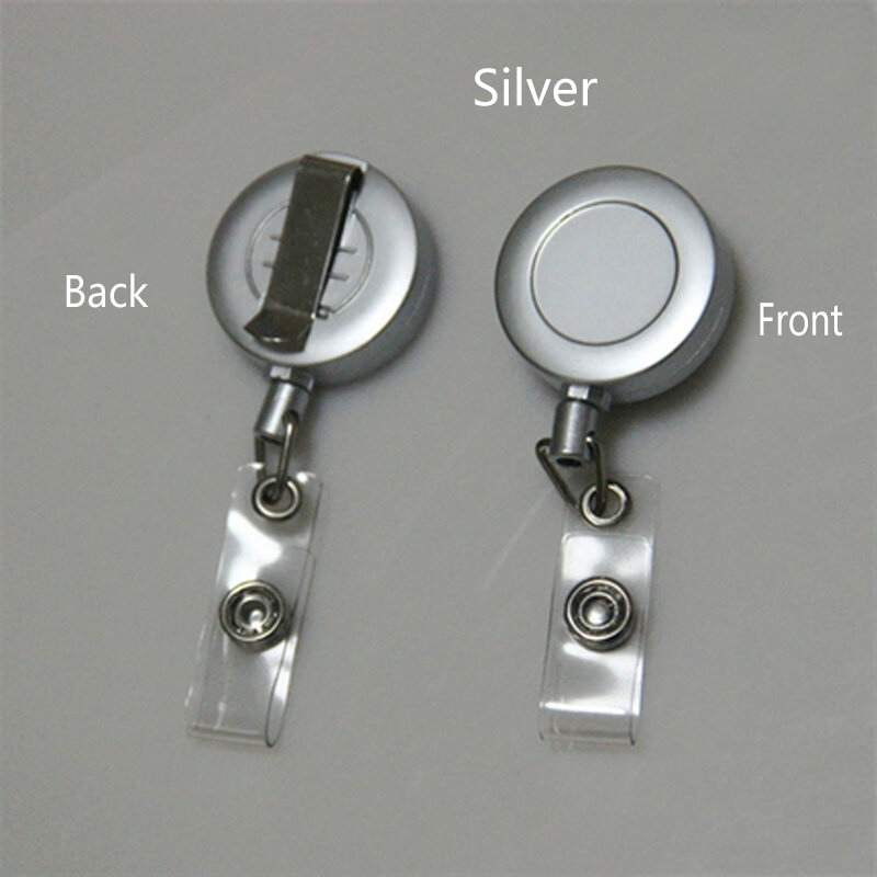 Badge Reel For Access Card, Retractable Chain Work Card Keychain Coil Testificate ID IC Card Holder