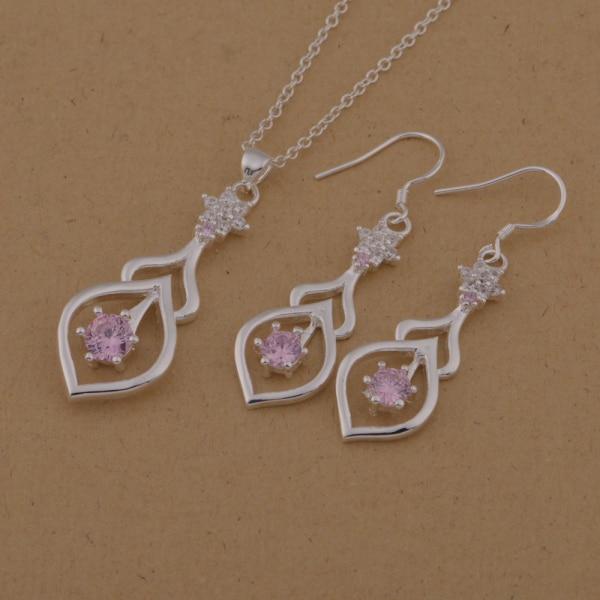 Wholesale Freies Verschiffen 925 Silber Modeschmuck Halskette Ringe Wt-628 Angenehm Bis Zum Gaumen Brautschmuck Sets Schmuck & Zubehör