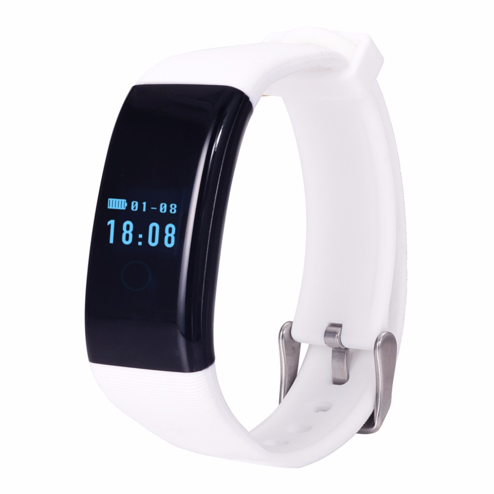 D21 Heart Rate Monitor Smart Bracelet Swimming Alarm Clock Step Counter Call Mes