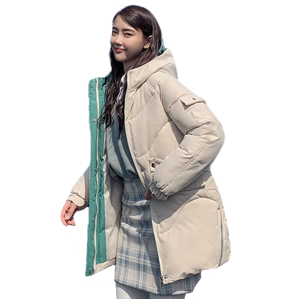 New Winter Down Cotton Jacket Women thickening hooded down   parka   padded jacket female 821