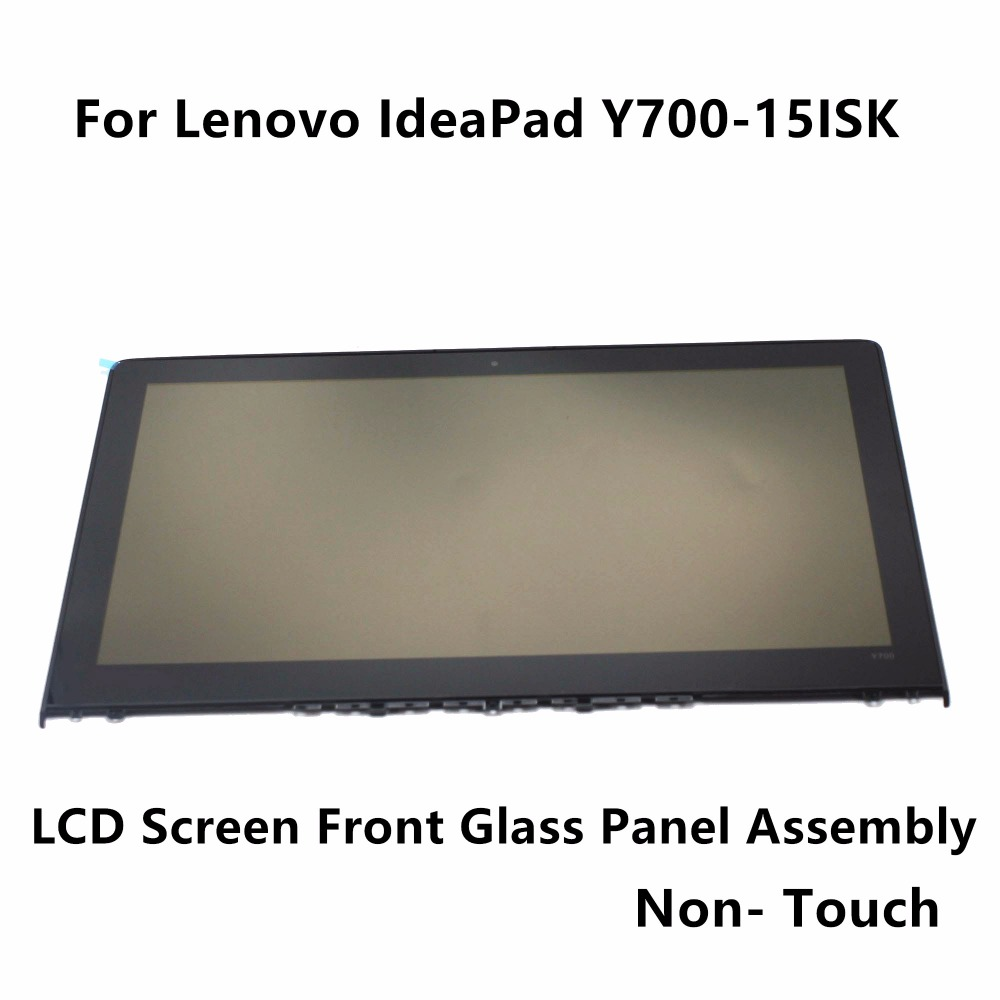 15.6'' Laptop Full Assembly For Lenovo Ideapad Y700-15 Front Glass Cover+4K UHD LCD Screen Display Panel LQ156D1JX03-E Non-Touch 15 6 laptop full lcd display touch digitizer screen assembly nv156fhm a12 for lenovo ideapad y700 touch 15isk fhd ips panel