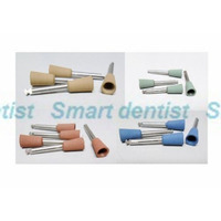 50 pcs x DENTAL SILICONE CUP POLISHER MIDGETS ASSORTED optional BLUE BROWN GREEN BEIGE RA