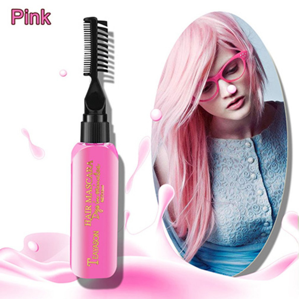 Brand DIY New Hair Dye Color Does Not Pain Hair Easy To Clean Non-toxic One-time Temporary Mascara Hair Cream 13 Colors Gold image
