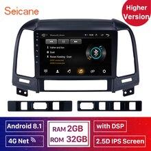 Hogere versie RAM 2 GB   ROM32GB IPS Android 8.1 Auto Radio GPS Stereo Unit Speler Voor HYUNDAI SANTA FE 2005-2012 DSP 4G Netto WIFI