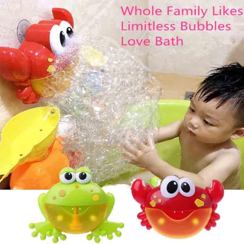 New Crab Frog Bubble Machine Bathroom Bubble Maker Bath Toy Kid Baby Toy Newborn Gift