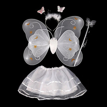Butterfly Wing Wand Headband Tutu Skirts Cosplay Costume For Fairy Girl Kids Skirt Baby Sets For Children M2